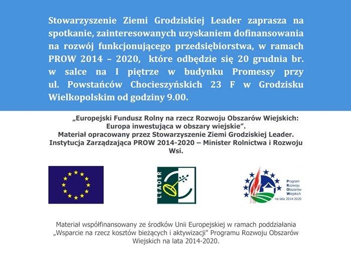 Plakat informujący o spotkaniu konsultacyjnym 20.12.2017 r